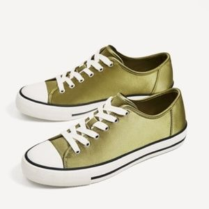 Zara Basic Collection Satin Sneakers